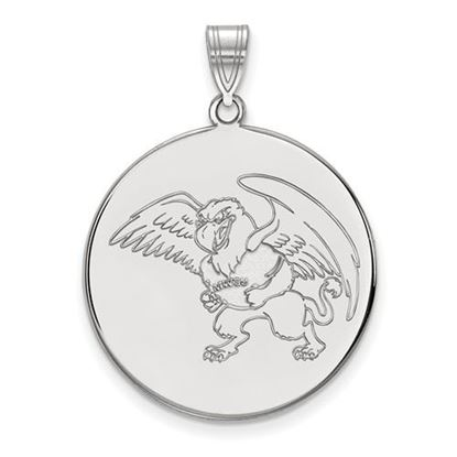 Picture of Missouri Western State University Griffons 10k White Gold Extra Large Disc Pendant