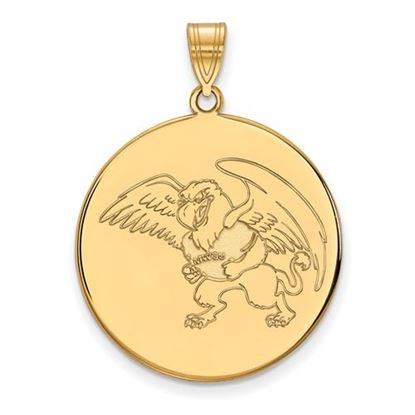 Picture of Missouri Western State University Griffons Sterling Silver Gold Plated Extra Large Disc Pendant