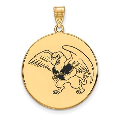 Picture of Missouri Western State University Griffons Sterling Silver Gold Plated Extra Large Enameled Disc Pendant
