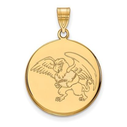Picture of Missouri Western State University Griffons Sterling Silver Gold Plated Large Disc Pendant