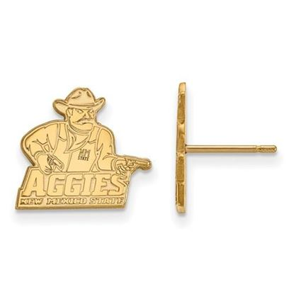 Picture of New Mexico State University Aggies 14k Yellow Gold Small Post Earrings