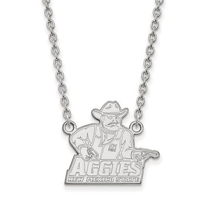 Picture of New Mexico State University Aggies 10k White Gold Large Necklace