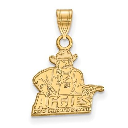 Picture of New Mexico State University Aggies 10k Yellow Gold Small Pendant
