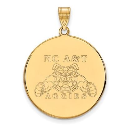 Picture of North Carolina A&T State University Aggies 10k Yellow Gold Extra Large Disc Pendant