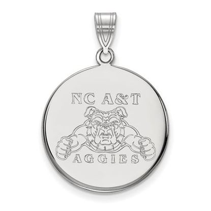 Picture of North Carolina A&T State University Aggies 14k White Gold Large Disc Pendant