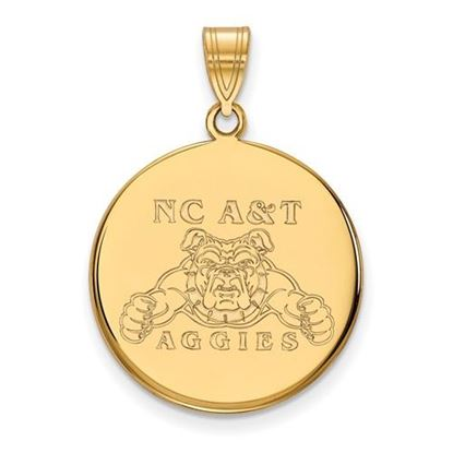 Picture of North Carolina A&T State University Aggies Sterling Silver Gold Plated Large Disc Pendant