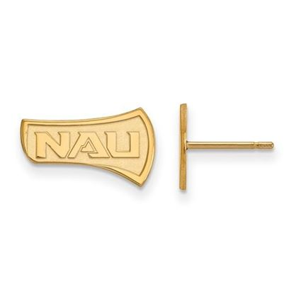 Picture of Northern Arizona University Lumberjacks Sterling Silver Gold Plated Small Post Earrings