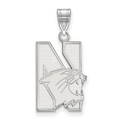 Picture of Northwestern University Wildcats 10k White Gold Large Pendant