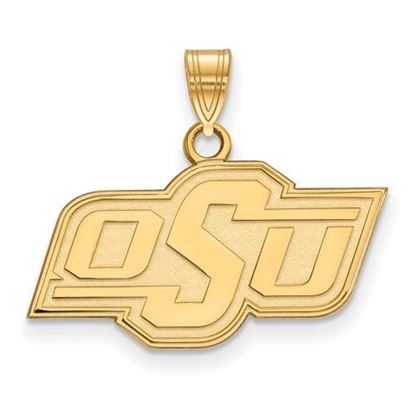 Picture of Oklahoma State University Cowboys Sterling Silver Gold Plated Small Pendant