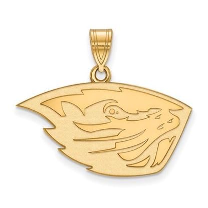 Picture of Oregon State University Beavers Sterling Silver Gold Plated Medium Pendant