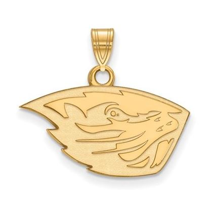 Picture of Oregon State University Beavers Sterling Silver Gold Plated Small Pendant