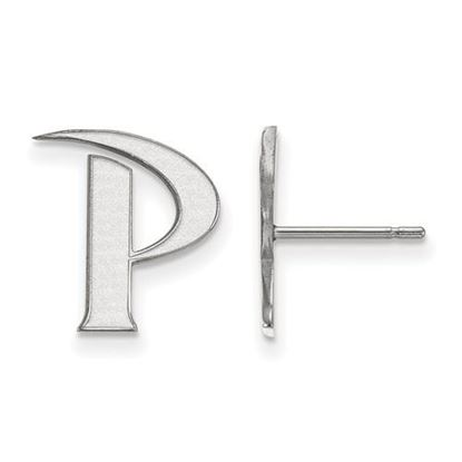 Picture of Pepperdine University Waves 10k White Gold Small Post Earrings