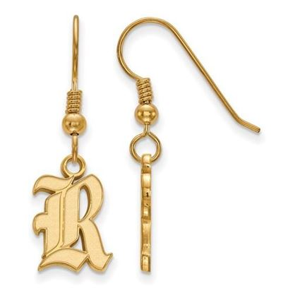 Picture of Rice University Owls Sterling Silver Gold Plated Small Dangle Earrings