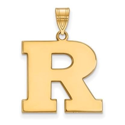 Picture of Rutgers University Scarlet Knights Sterling Silver Gold Plated Large Pendant