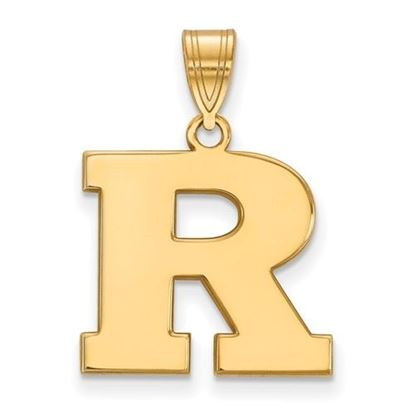 Picture of Rutgers University Scarlet Knights Sterling Silver Gold Plated Medium Pendant