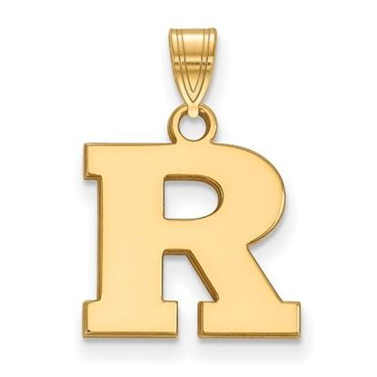 Picture of Rutgers University Scarlet Knights Sterling Silver Gold Plated Small Pendant