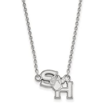 Picture of Sam Houston State University Bearkats 10k White Gold Small Necklace