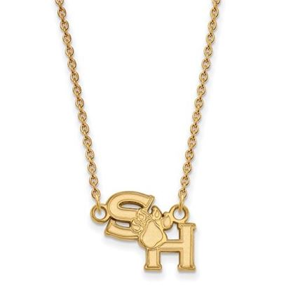 Picture of Sam Houston State University Bearkats Sterling Silver Gold Plated Small Necklace