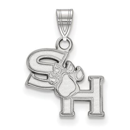 Picture of Sam Houston State University Bearkats 10k White Gold Small Pendant