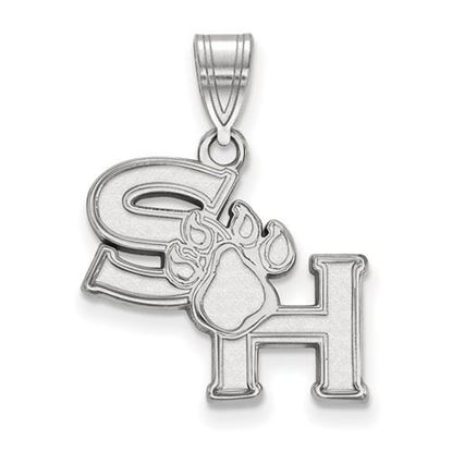 Picture of Sam Houston State University Bearkats 14k White Gold Medium Pendant