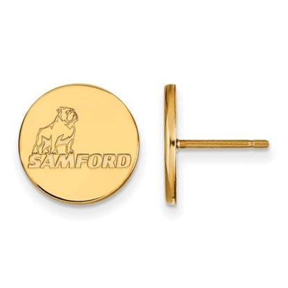 Picture of Samford University Bulldogs 10k Yellow Gold Small Post Earrings
