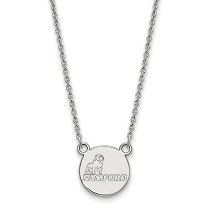 Picture of Samford University Bulldogs 10k White Gold Small Necklace