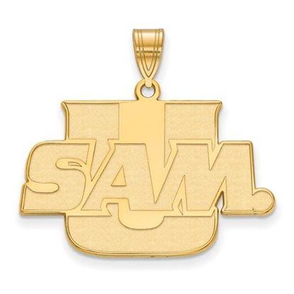 Picture of Samford University Bulldogs 10k Yellow Gold Large Pendant