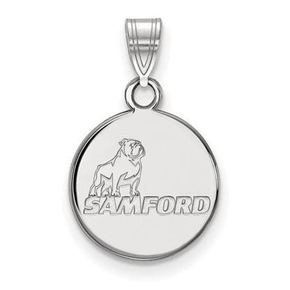 Picture of Samford University Bulldogs 14k White Gold Small Pendant