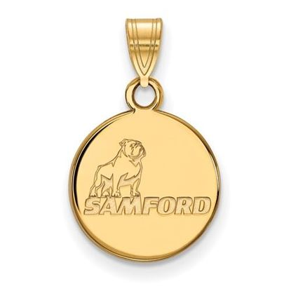 Picture of Samford University Bulldogs Sterling Silver Gold Plated Small Pendant