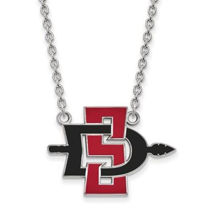 Picture of San Diego State University Aztecs 10k White Gold Large Necklace