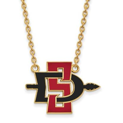 Picture of San Diego State University Aztecs 14k Yellow Gold Large Necklace