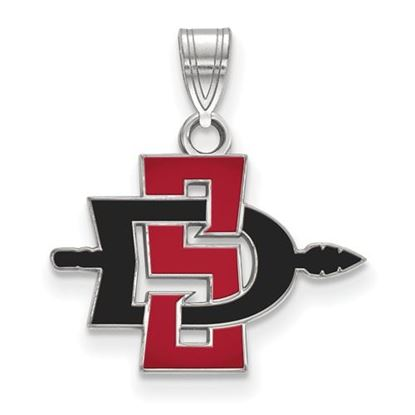 Picture of San Diego State University Aztecs 14k White Gold Small Pendant