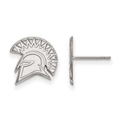Picture of San Jose State University Spartans 10k White Gold Small Post Earrings