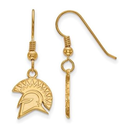 Picture of San Jose State University Spartans Sterling Silver Gold Plated Small Dangle Earrings