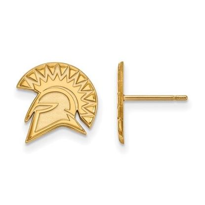Picture of San Jose State University Spartans Sterling Silver Gold Plated Small Post Earrings
