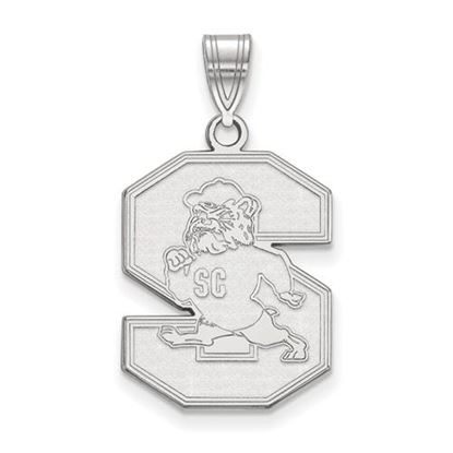 Picture of South Carolina State University Bulldogs 14k White Gold Large Pendant