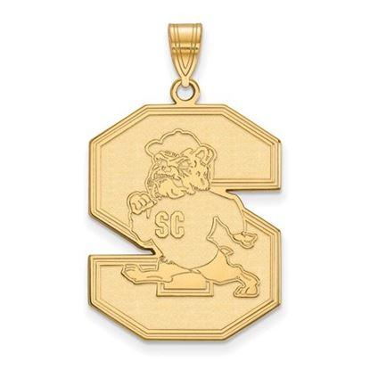 Picture of South Carolina State University Bulldogs 14k Yellow Gold Extra Large Pendant