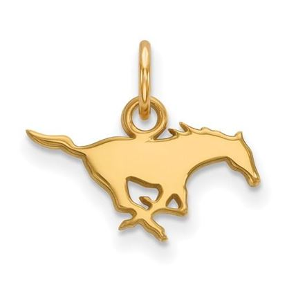 Picture of Southern Methodist University Mustangs 10k Yellow Gold Extra Small Pendant