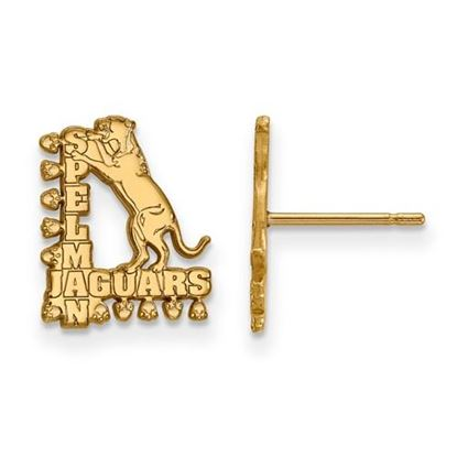 Picture of Spelman College Jaguars 10k Yellow Gold Small Post Earrings
