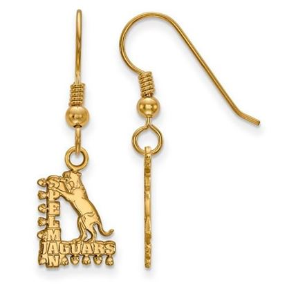 Picture of Spelman College Jaguars Sterling Silver Gold Plated Small Dangle Earrings