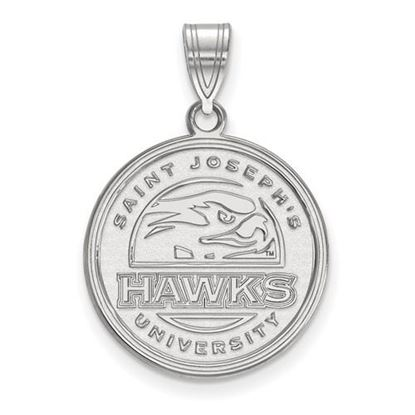 Picture of St. Joseph's University Hawks 10k White Gold Large Pendant