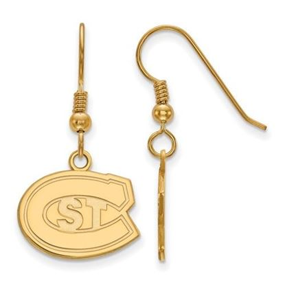 Picture of St. Cloud University Sterling Silver Gold Plated State Small Dangle Earrings