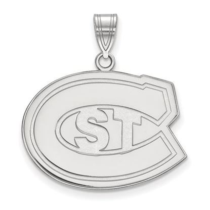Picture of St. Cloud State University Huskies 10k White Gold Large Pendant
