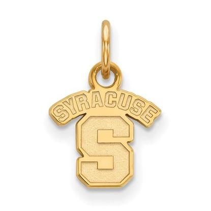 Picture of Syracuse University Orange Sterling Silver Gold Plated Extra Small Pendant