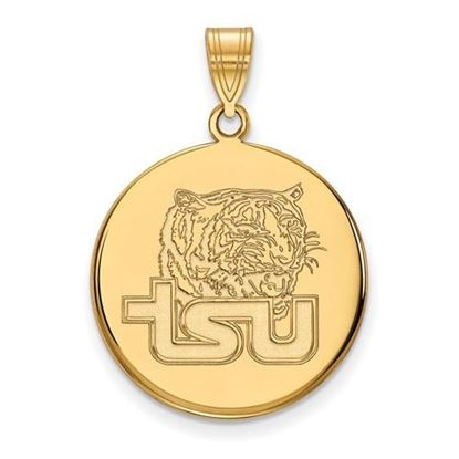 Picture of Tennessee State University Tigers Sterling Silver Gold Plated Large Enameled Disc Pendant