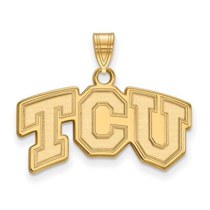 Picture of Texas Christian University Horned Frogs Sterling Silver Gold Plated Small Pendant
