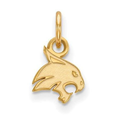 Picture of Texas State University Bobcats 10k Yellow Gold Extra Small Pendant