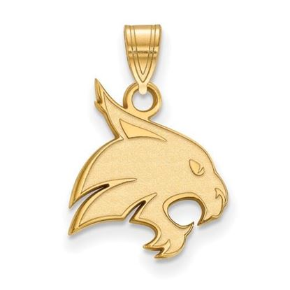 Picture of Texas State University Bobcats Sterling Silver Gold Plated Medium Pendant
