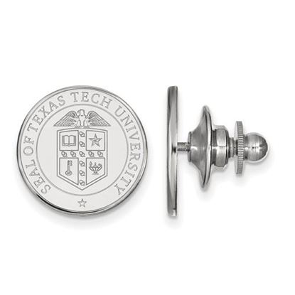 Picture of Texas Tech University Red Raiders 14k White Gold Crest Lapel Pin