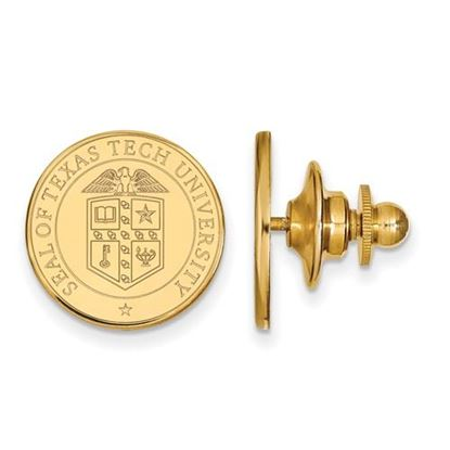 Picture of Texas Tech University Red Raiders 14k Yellow Gold Crest Lapel Pin